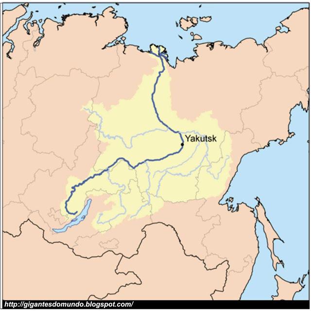 mapa Rio Lena