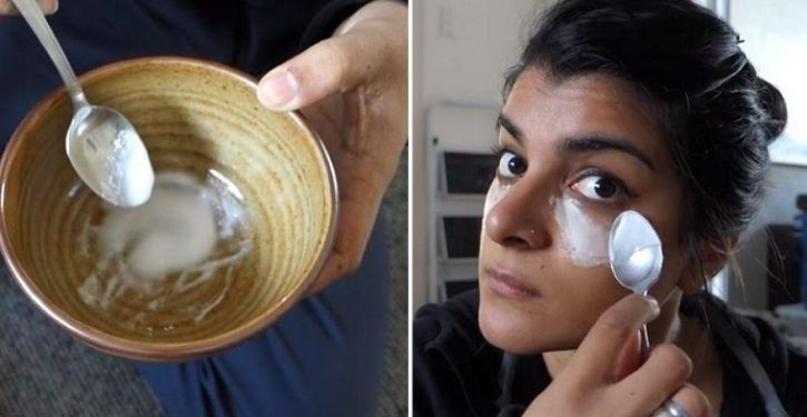 She Rubs Baking Soda on Her Face, Something Incredible