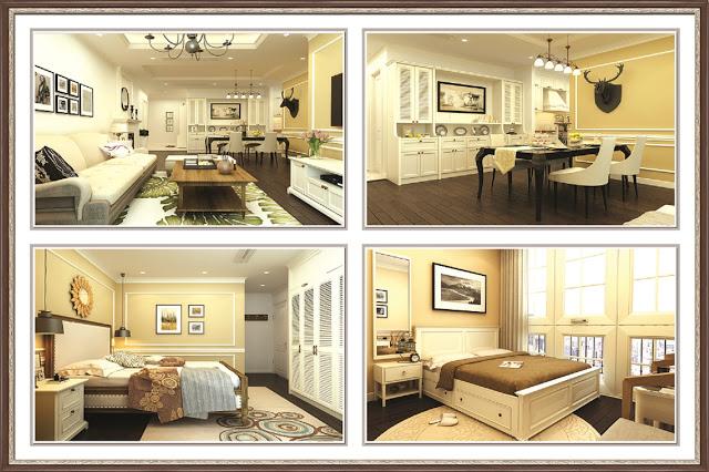 Cách bố trí nội thất và cách kết hợp gam màu sang trọng tại chung cư Eurowindow River Park