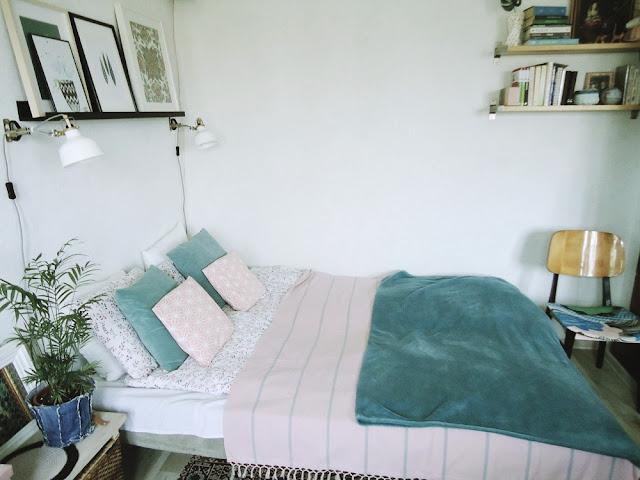 sypialnia w livingu