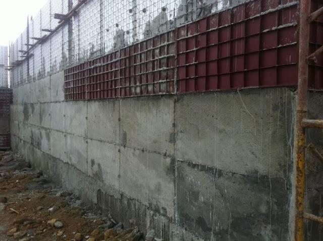 Thi công tường beton cốt thép 3D