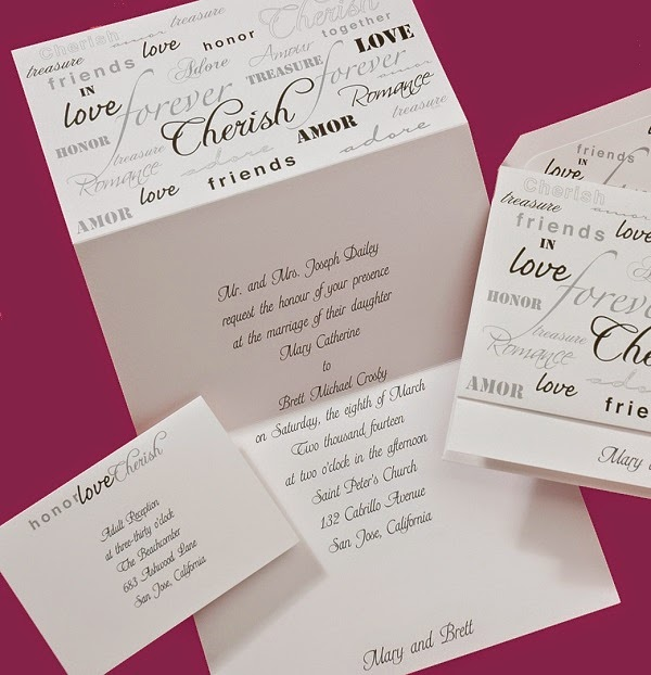 Wedding Invitations: Love, Honor, Cherish & Much More