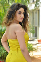 Sony Charishta In a Yellow Jump Suit Sleevelss Deep neck Beautiful Actress ~  Exclusive 005.jpg