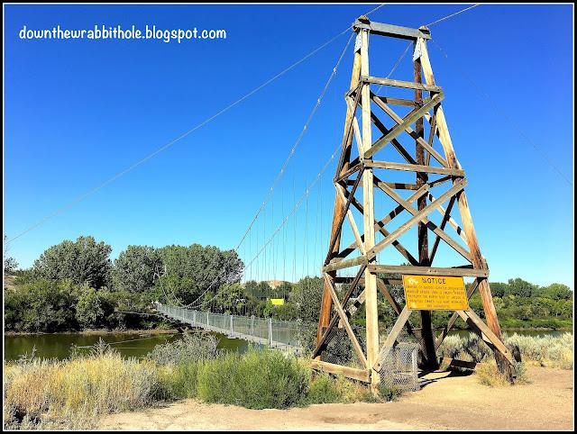 The Rosedale Suspension Bridge in Drumheller Alberta