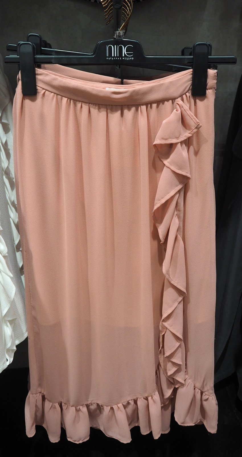 Nine By Savannah Miller Pink Frill Skirt