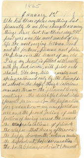 Diary entry for January 1, 1865