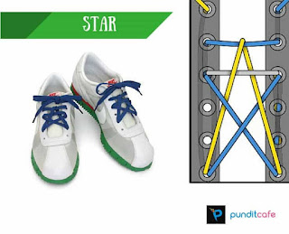 Cara Mengikat Tali Sepatu Bintang (Star)