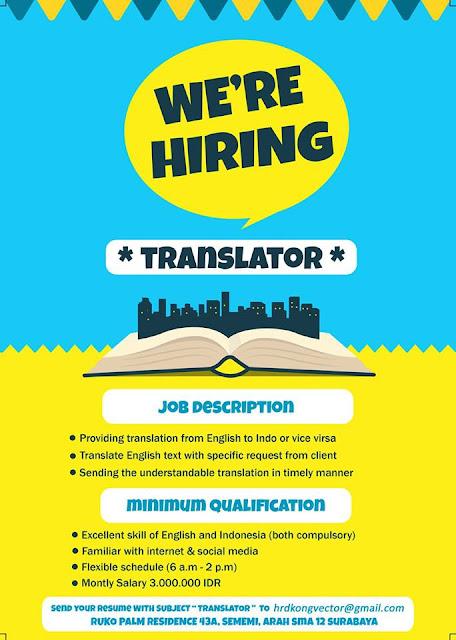 lowongan kerja translator di surabaya