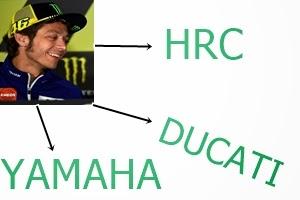 Rossi dan para pesaingnya  setelah balap Le Mans