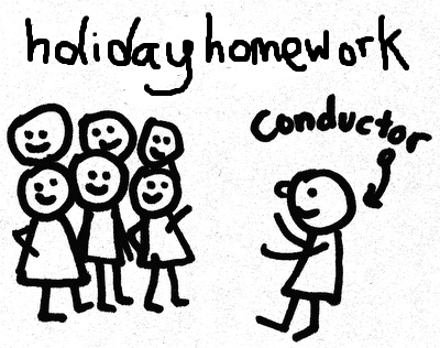 Park View : Lytham Community Choir: Holiday Homework