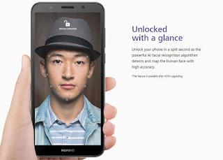 Huawei Y5 Prime (2018) face unlock