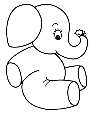 13 cute baby elephant printable coloring sheet