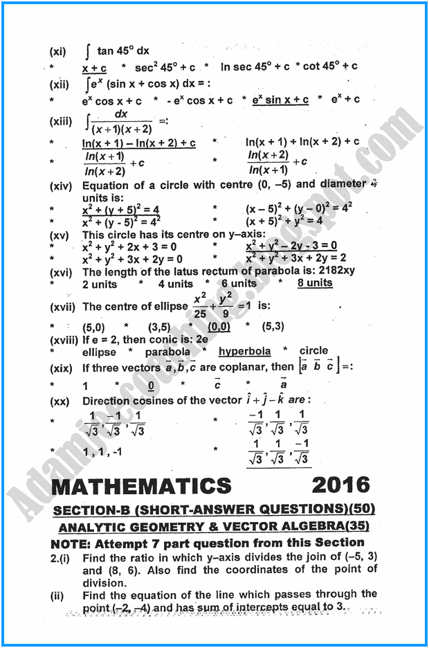 xii-mathematics-past-year-paper-2016