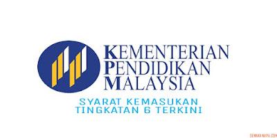Syarat Kemasukan Tingkatan 6 Terkini 2018