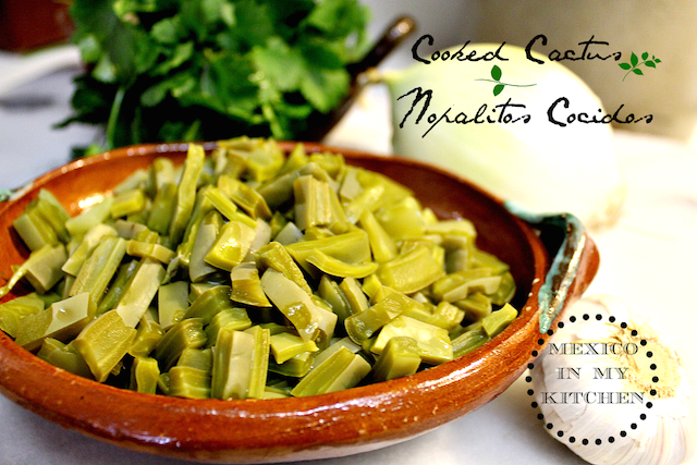 Easy & Quick recipe with Nopales (cactus paddles)