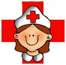 Dibujo de una asistente de la Cruz Roja para niños