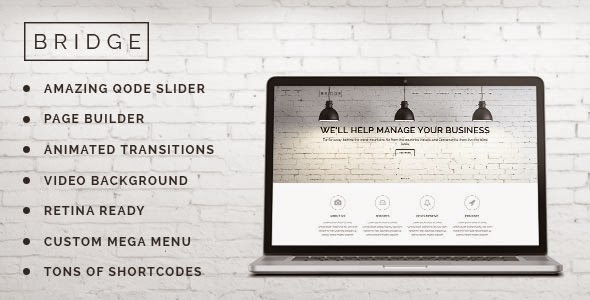 Download Free Bridge v6.6 Creative Multi-Purpose WordPress Theme