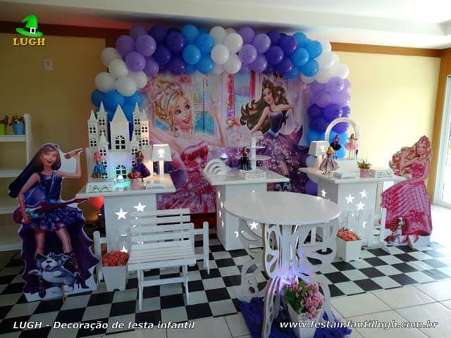 Decoração Barbie Princesa e a Pop Star - Festa de aniversário infantil Barra-RJ