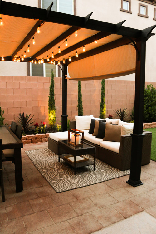 backyard transitional patio las vegas