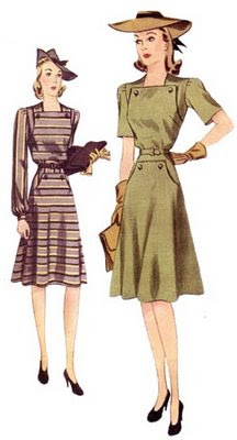 decades of style 1940s dress plus size sewing pattern