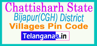 Bijapur(CGH) District Pin Codes in Chattisgarh State