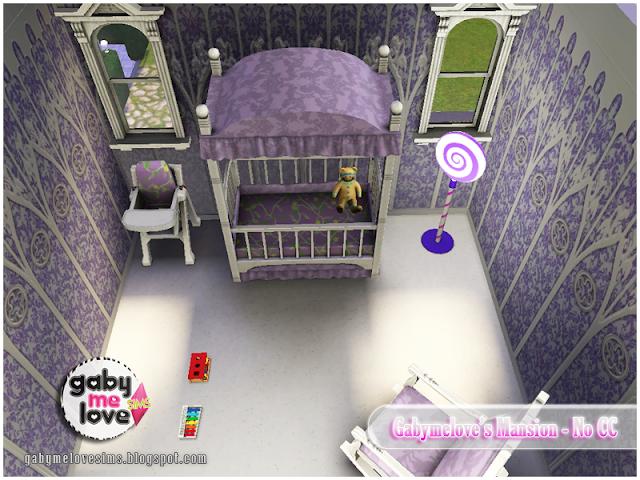 Gabymelove's Mansion |NO CC| ~ Lote Residencial, Sims 3. Habitación para bebé.