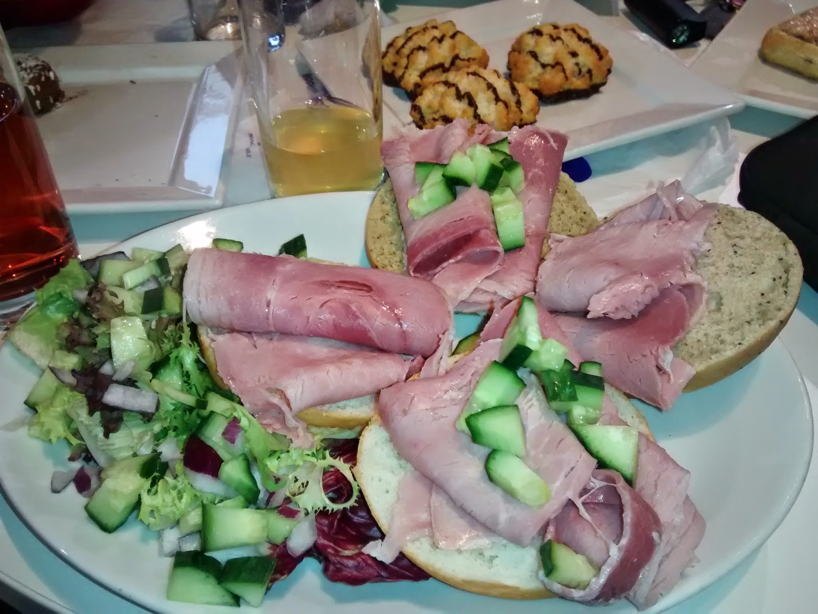 Gluten free Ham Rolls and Salad at Cadbury World