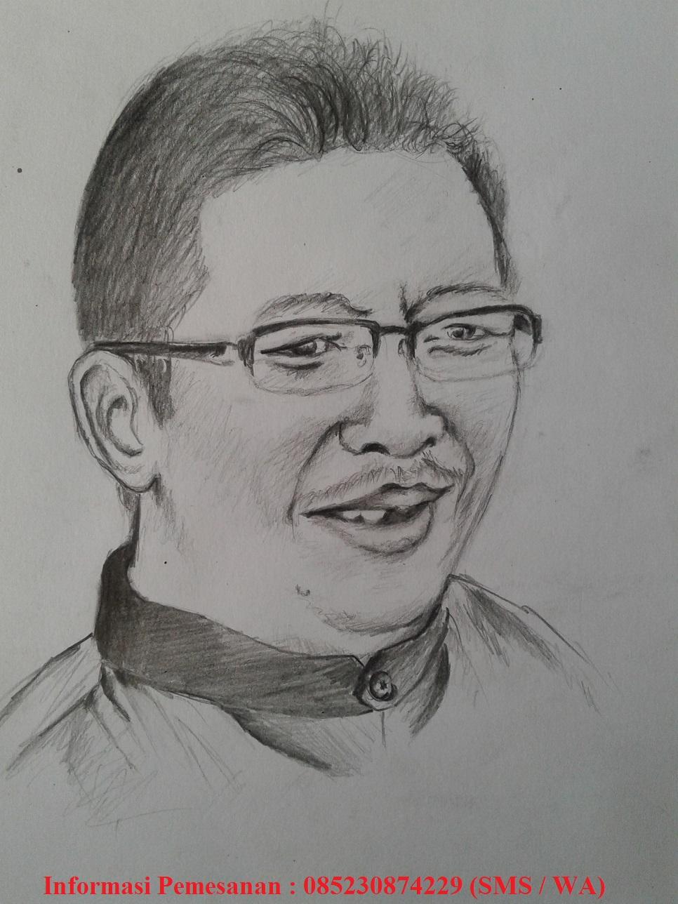 Jual Sketsa Wajah Online Menggunakan Pensil Didik Jatmiko Blogger
