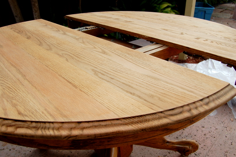 MY CREATIVE PINK!: $25 Oak Table Turned Beautiful!!