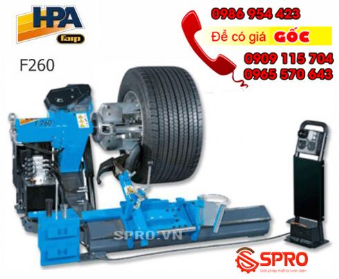 Giá máy tháo vỏ xe tải, máy ra vào lốp ô tô tải cỡ lớn HPA F260