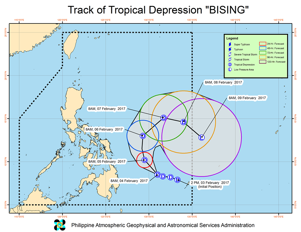 tropical depression Bising
