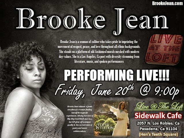 Los Angeles poet Brooke Jean is coming to #Pasadena