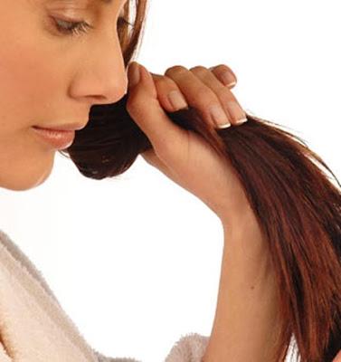 pontas dos cabelos