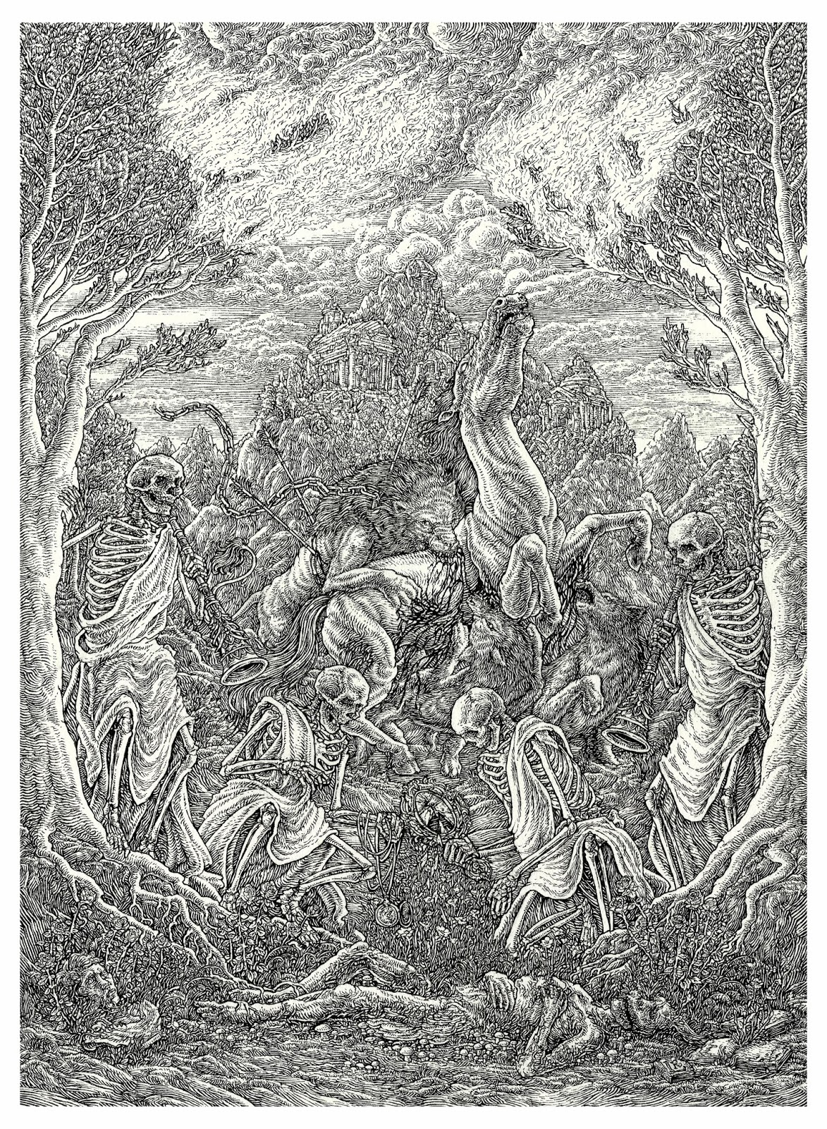 Lucas Ruggieri Illustration Danse Macabre New Piece Now