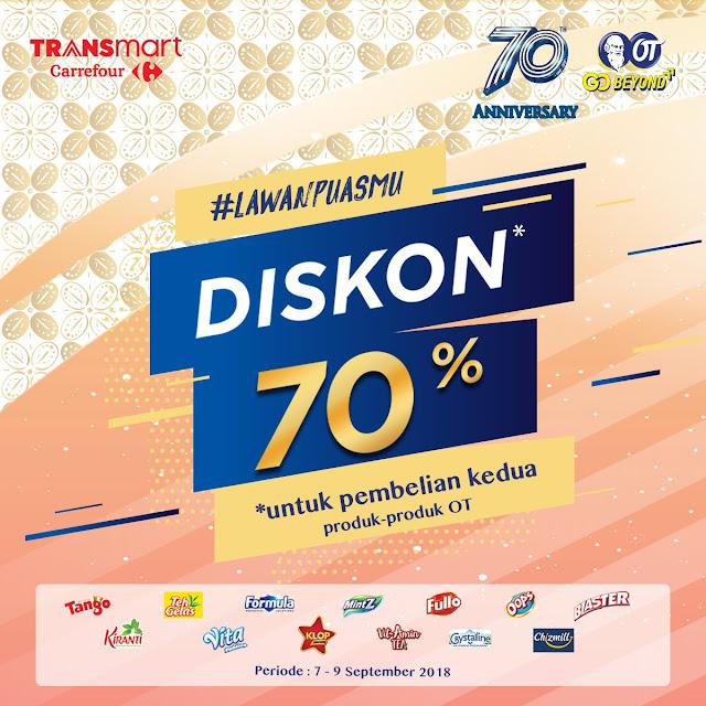 Carrefour -  Promo Diskon 70% Pembelian Produk OT #LawanPuasmu