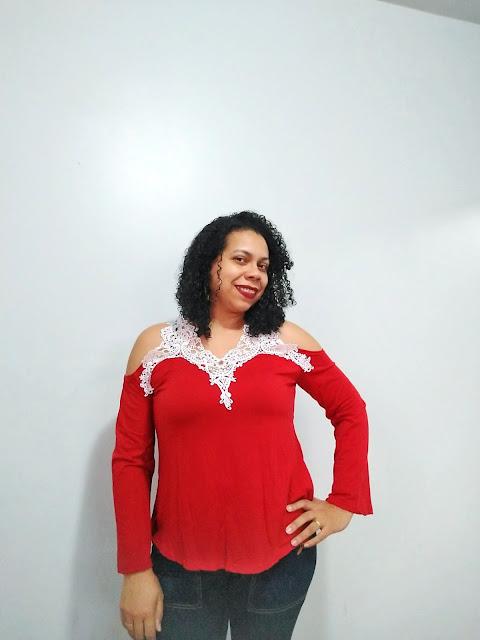 Look do Dia, Moda, recebidos rosegal, rosegal store, lookbook, Dica de Moda, dicas de compras, rosegal, blusa vermelha, blusa de renda