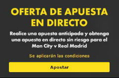 promoción apuestas oferta bet365 manchester city vs real madrid 26 abril 2016
