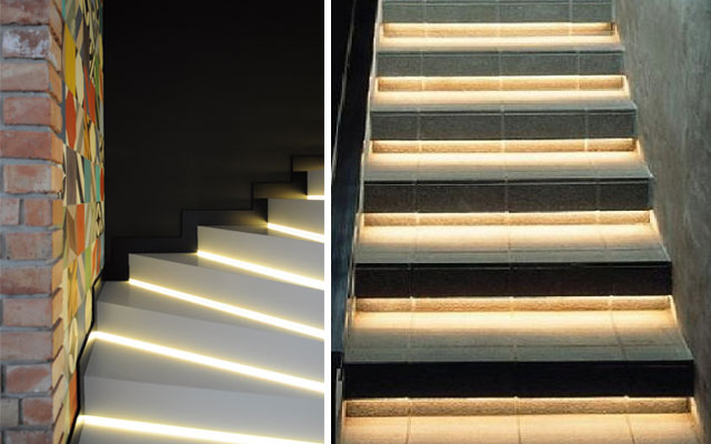 marzua ideas para decorar escaleras con luz