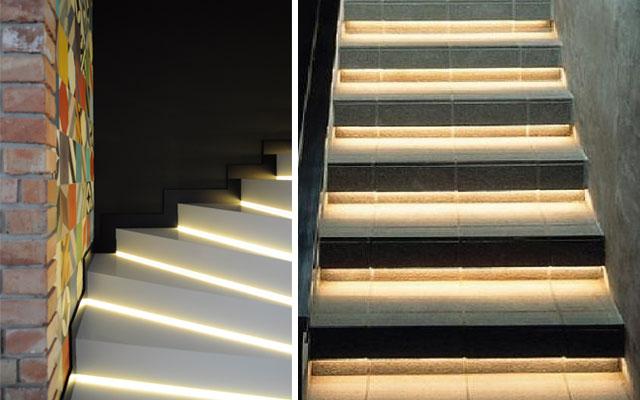 Marzua ideas para decorar escaleras con luz for Escaleras con luz