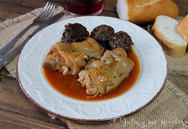 Guisado de patas de cerdo de la abuela Carmen. Julia y sus recetas