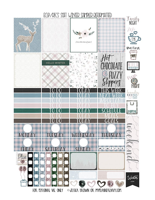 Reformatted Free Printable Vertical Erin Condren and Recollections Creative Year Soft Winter Sampler from myplannerenvy.com