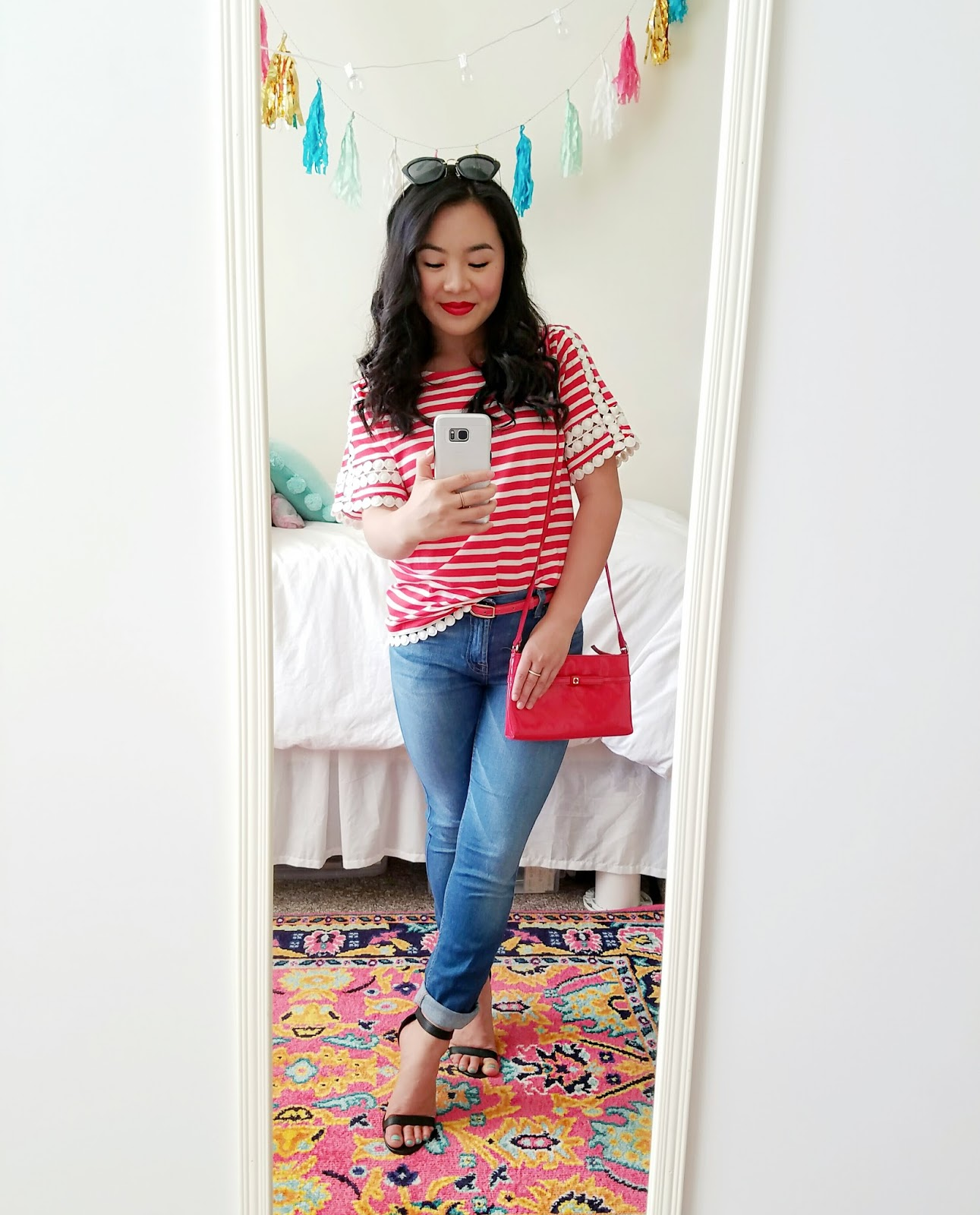 J. Crew at Nordstrom Red Striped Top
