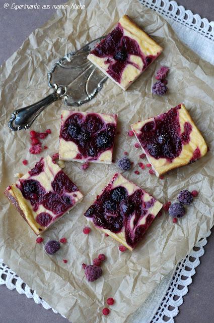 Experimente aus meiner Küche: Käsekuchen mit roter Grütze