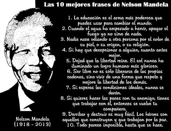 Quinto Año Nelson Mandela Frases Célebres Y Biografía