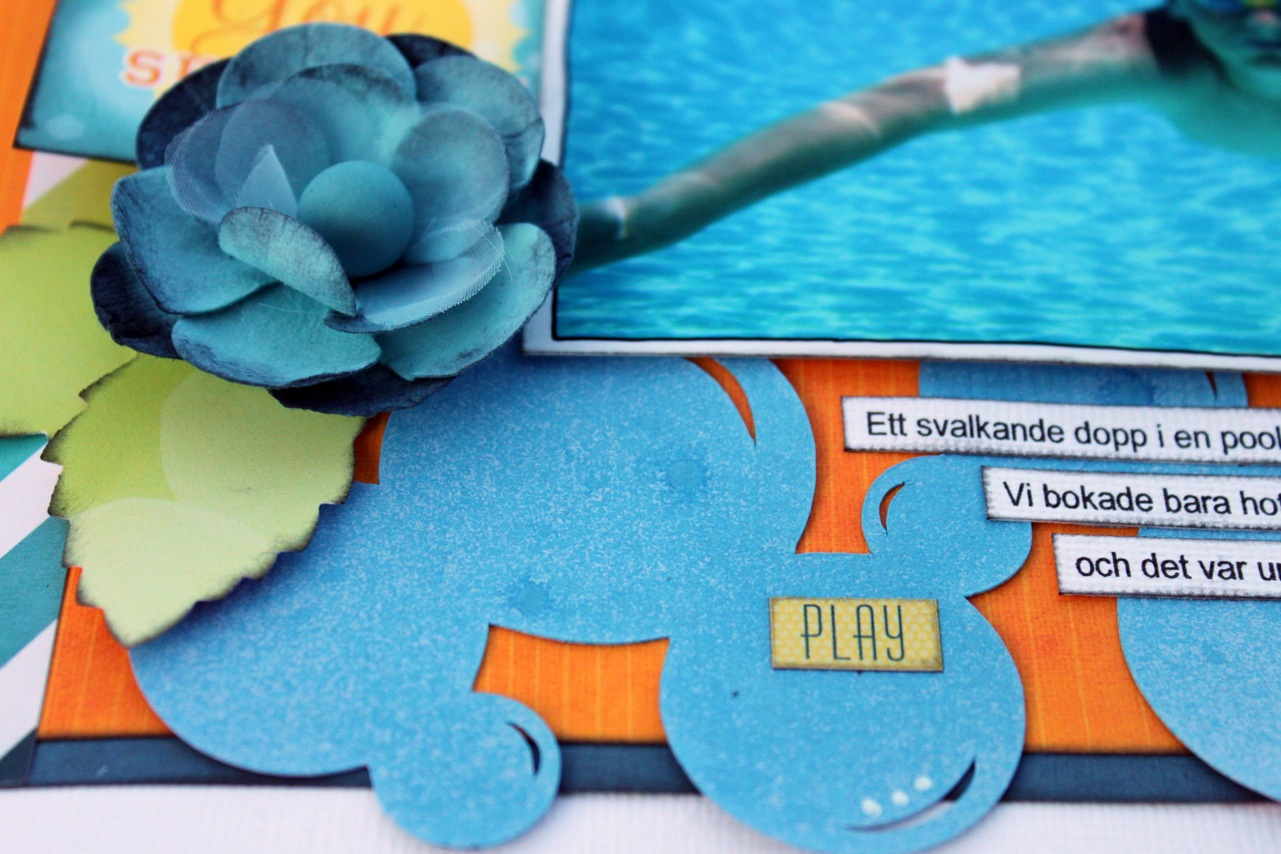 Swimming Scrapbook Page by Ulrika Wandler featuring 17turtles Digital Cut Files