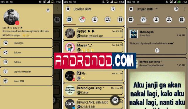 BBM Mod Soft Brown v3.0.1.25 Apk Clone | Unclone Terbaru