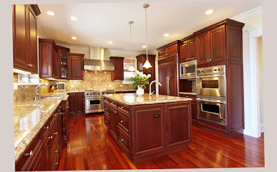 Luxury Beautiful Gourmet Kitchens With-Cherry Wood Cabin Best Photo Preview