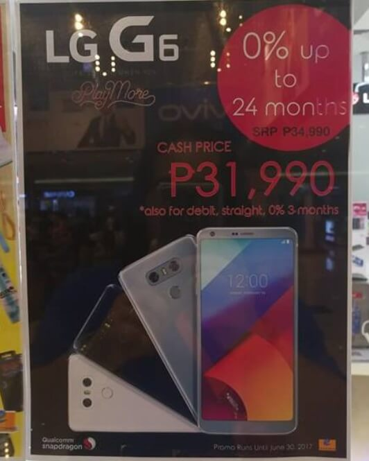 LG Mobile Cuts the Price of LG G6, Now Only Php31,990