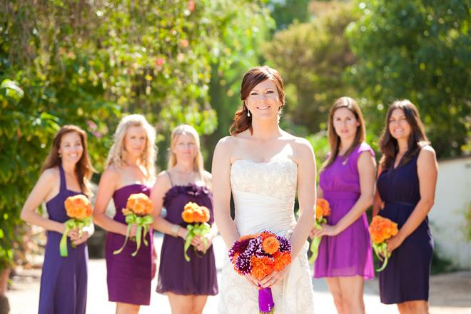 Purple and Orange Wedding Inspiration: Larissa + Tony ...