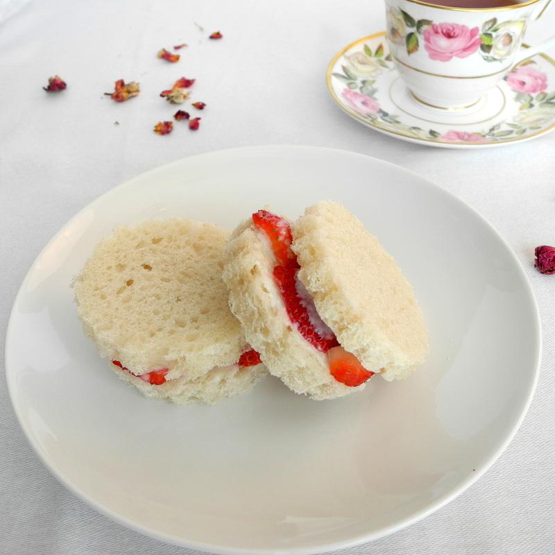Strawberry Rose Tea Sandwiches